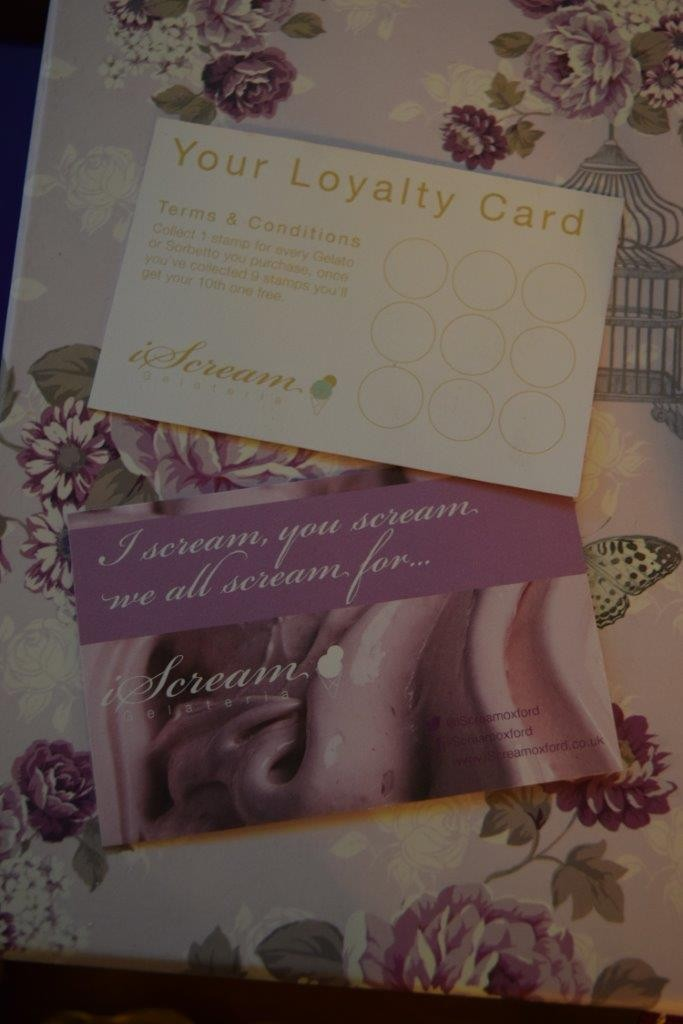 Make sure you get yourself an iScream loyalty card
