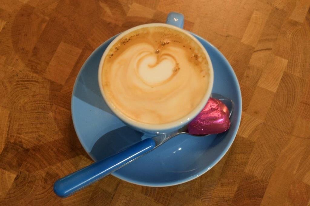 Gourmet coffee with an indulgent chocolate