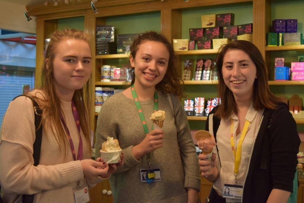 Lovely ladies as lovely as their gelatos