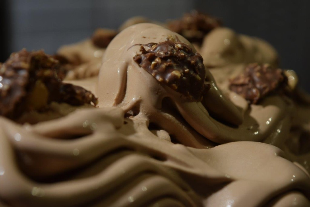 Our Gelatiere simply cannot make the Ferrero Rocher gelato fast enough