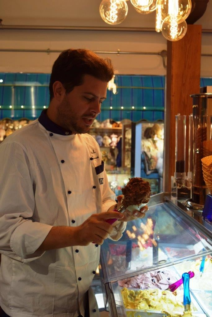'Italo Grassi' making a guest appearance - melting hearts as well as gelato