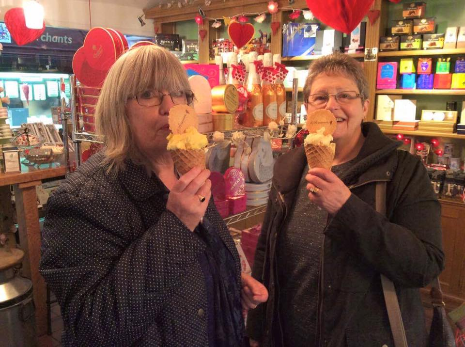 These two gorgeous ladies got straight off the bus and we were their first port of call. Not only that but they both enjoyed a 'Howler' each BEFORE lunch.. We like your style ladies!