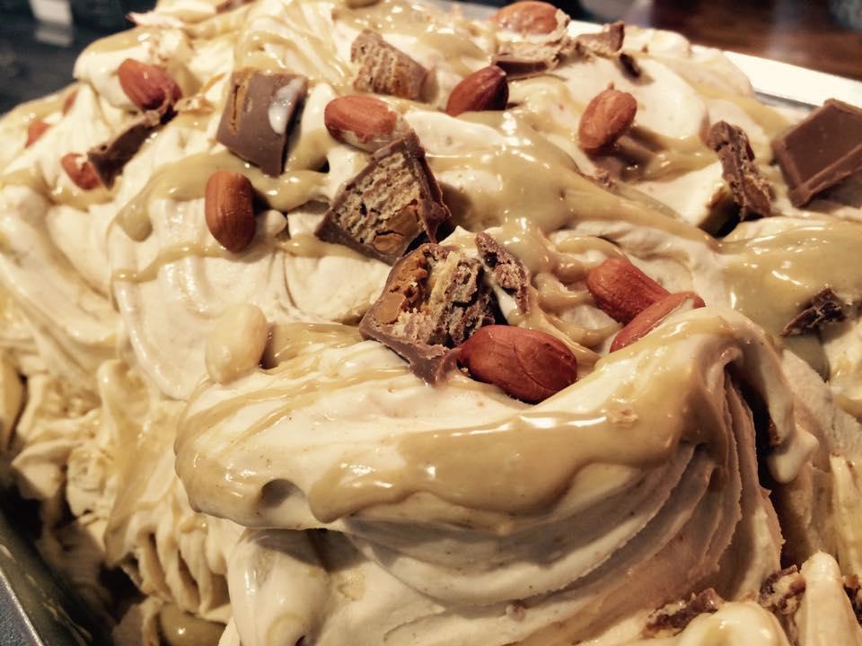 Indulgent Peanut Butter KitKat gelato