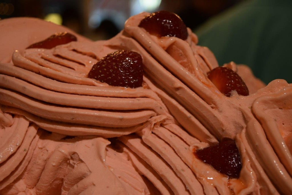 Sweet, smooth strawberry sorbetto made with strawberries from the Rectory Farm PYO