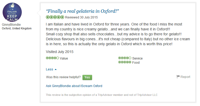 Trip advisor review no 2 small
