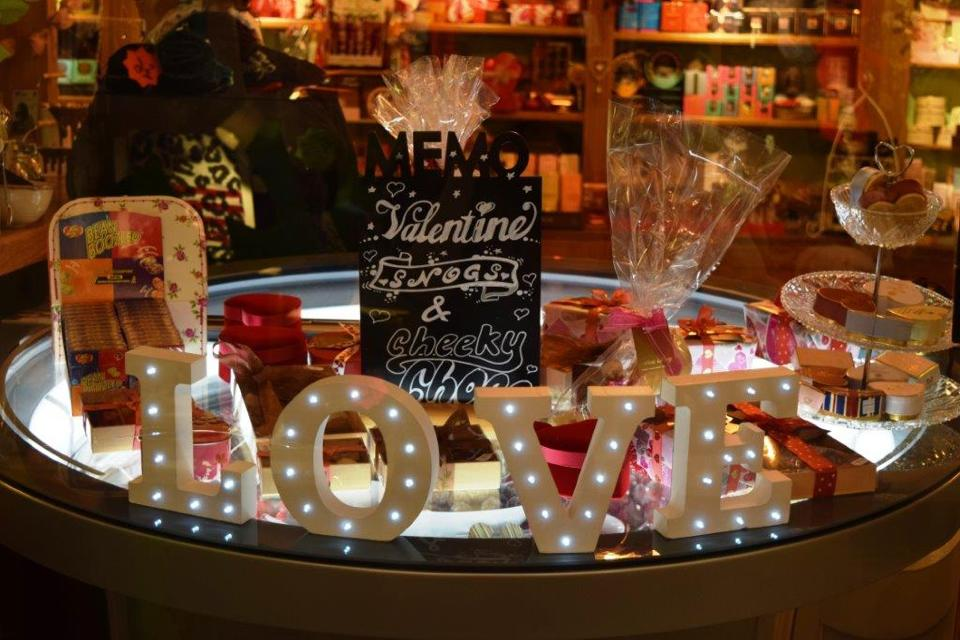 We love our Valentine's display