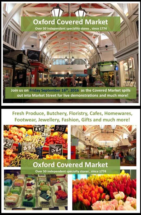 Oxford Covered Market Spills Outside