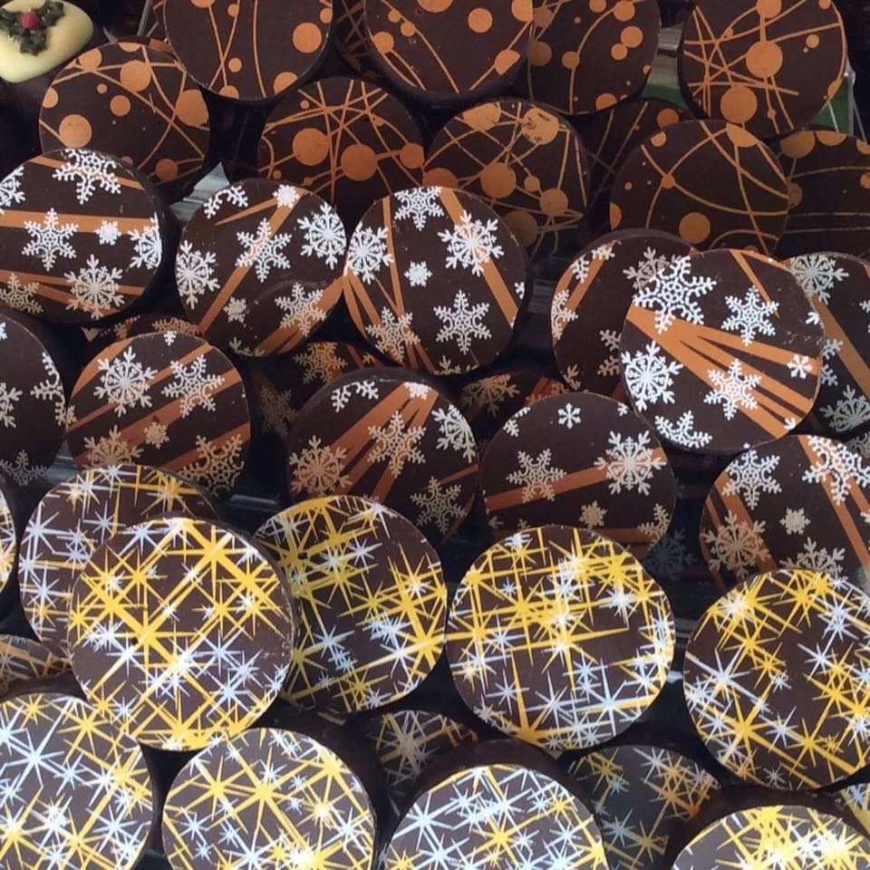 Some of our gorgeous Christmas Belgian chocolates