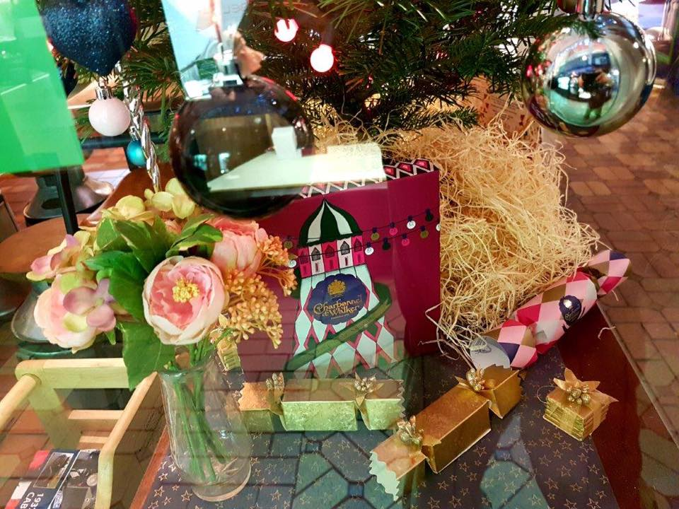 Our Christmas decorations – make sure you vote in the Oxford Covered Market's Christmas Window Competition to be in with a chance of winning £100 worth of vouchers to spend in the Market! See our 'Posts' section for details.