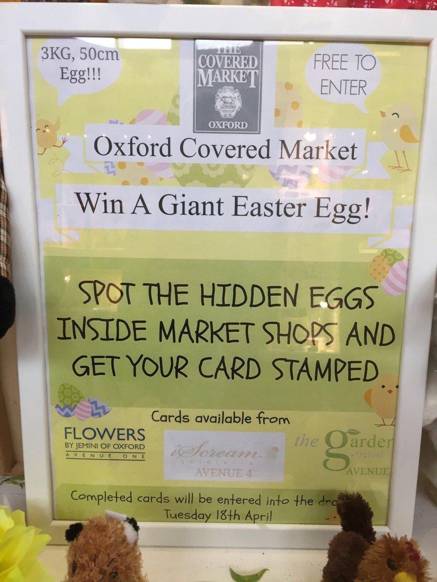 Oxford Covered Market Easter Egg Hunt